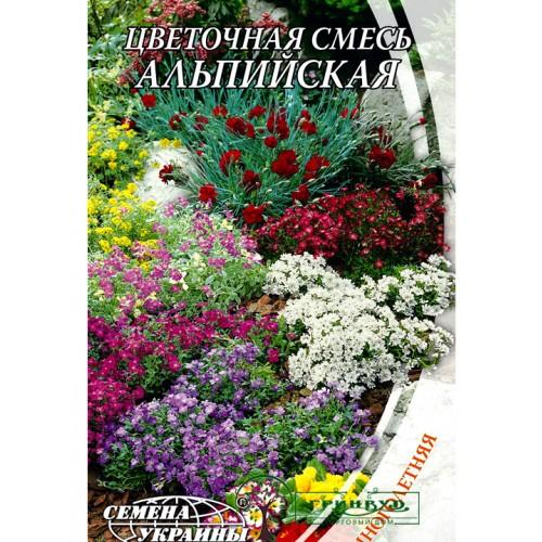 """СЕМЕНА ЦВЕТОЧНАЯ СМЕСЬ """"АЛЬПИЙСКАЯ"""", 0,3 Г"""